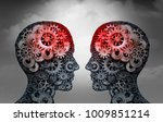 telepathy and mind reading... | Shutterstock . vector #1009851214