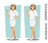 nurse   healthcare providers  ... | Shutterstock .eps vector #1009854151