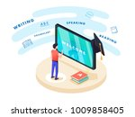 concept on line learning and... | Shutterstock .eps vector #1009858405
