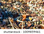 pile of vintage rusty iron... | Shutterstock . vector #1009859461