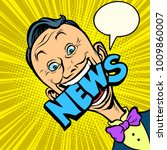 news pop art man. media...   Shutterstock .eps vector #1009860007