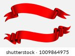 ribbon banners.vector red... | Shutterstock .eps vector #1009864975
