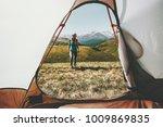 woman traveler walking in...   Shutterstock . vector #1009869835