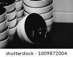 coffee cupping cups  black and... | Shutterstock . vector #1009872004