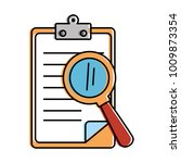 clipboard document with... | Shutterstock .eps vector #1009873354