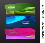 new stylized banners set | Shutterstock .eps vector #100987375