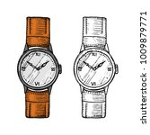 wristwatch or wristlet watch ... | Shutterstock .eps vector #1009879771