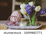 spring decorations at home on... | Shutterstock . vector #1009882771