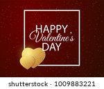 golden valentine hearts covered ... | Shutterstock .eps vector #1009883221