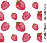 berry big red strawberry... | Shutterstock . vector #1009885849