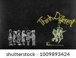 think different concept on... | Shutterstock . vector #1009893424