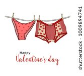 women's  panties and men's... | Shutterstock .eps vector #1009894741