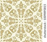 classic seamless golden pattern.... | Shutterstock . vector #1009895815