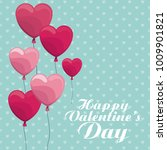 happy valentines day | Shutterstock .eps vector #1009901821