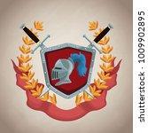 medieval emblem insignia | Shutterstock .eps vector #1009902895