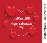valentine heart red white... | Shutterstock .eps vector #1009903915