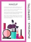 makeup tools and elements promo ... | Shutterstock .eps vector #1009907791