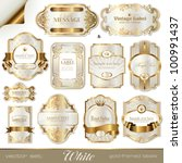 white gold framed labels | Shutterstock .eps vector #100991437