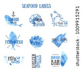 set of seafood logo templates... | Shutterstock .eps vector #1009915291