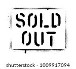 ''sold out'' quote. spray paint ... | Shutterstock .eps vector #1009917094