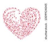 petals heart vector love and... | Shutterstock .eps vector #1009924045