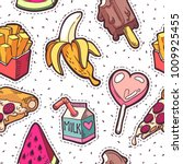 trendy girls fashion patches... | Shutterstock .eps vector #1009925455