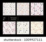 set of six terrazzo veneziano... | Shutterstock .eps vector #1009927111
