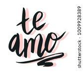 happy valentine lettering te... | Shutterstock .eps vector #1009928389