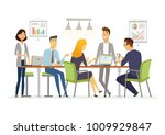 business discussion  ... | Shutterstock . vector #1009929847