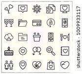 valentine's day line icons set... | Shutterstock .eps vector #1009933117