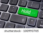 to illustrate hold concepts in stock trading. - stock photo