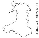 outline of wales in the united... | Shutterstock . vector #1009949134