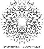 pinstripe design circular vinyl ...   Shutterstock .eps vector #1009949335
