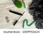 brush of black mascara  with... | Shutterstock . vector #1009952614