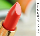 red fashion  lipstick close up  | Shutterstock . vector #1009952629