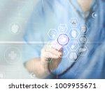 doctor medicine with...   Shutterstock . vector #1009955671