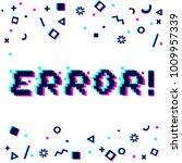vector error phrase in pixel... | Shutterstock .eps vector #1009957339