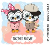 valentines card with cute...   Shutterstock .eps vector #1009964665