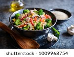 healthy quinoa salad with tuna  ... | Shutterstock . vector #1009968754