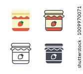 strawberry jar vector icon   Shutterstock .eps vector #1009970071