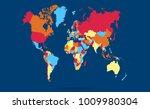 color world map vector | Shutterstock .eps vector #1009980304