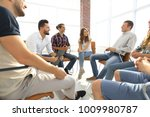 employees at the seminar on... | Shutterstock . vector #1009980787