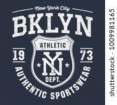 new york city bklyn   tee... | Shutterstock .eps vector #1009981165