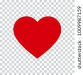 love heart icon | Shutterstock .eps vector #1009987159
