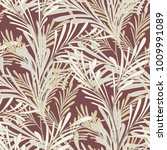 tropical leaf seamless vector... | Shutterstock .eps vector #1009991089