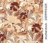 bright seamless vector botanical | Shutterstock .eps vector #1009993105