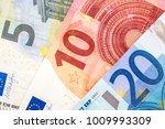 Close Up Paper Euro Banknotes