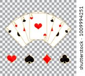 set of playing cards and... | Shutterstock .eps vector #1009994251
