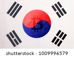 bitcoin  btc  on south korea... | Shutterstock . vector #1009996579