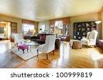 large gold antique living room... | Shutterstock . vector #100999819